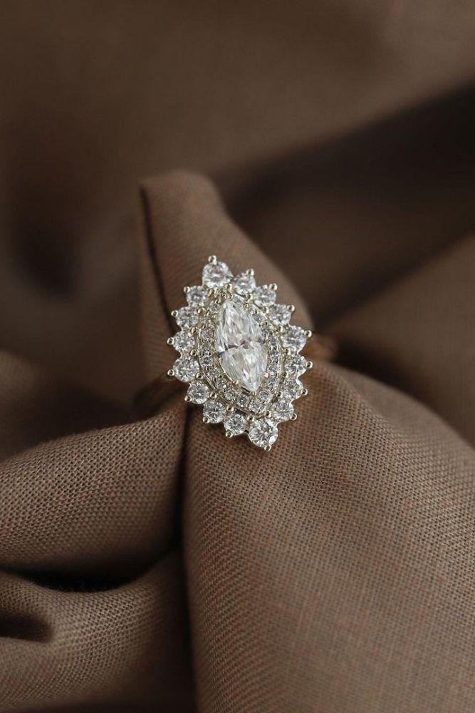 diamond engagement rings stylish marquise cut engagement rings1
