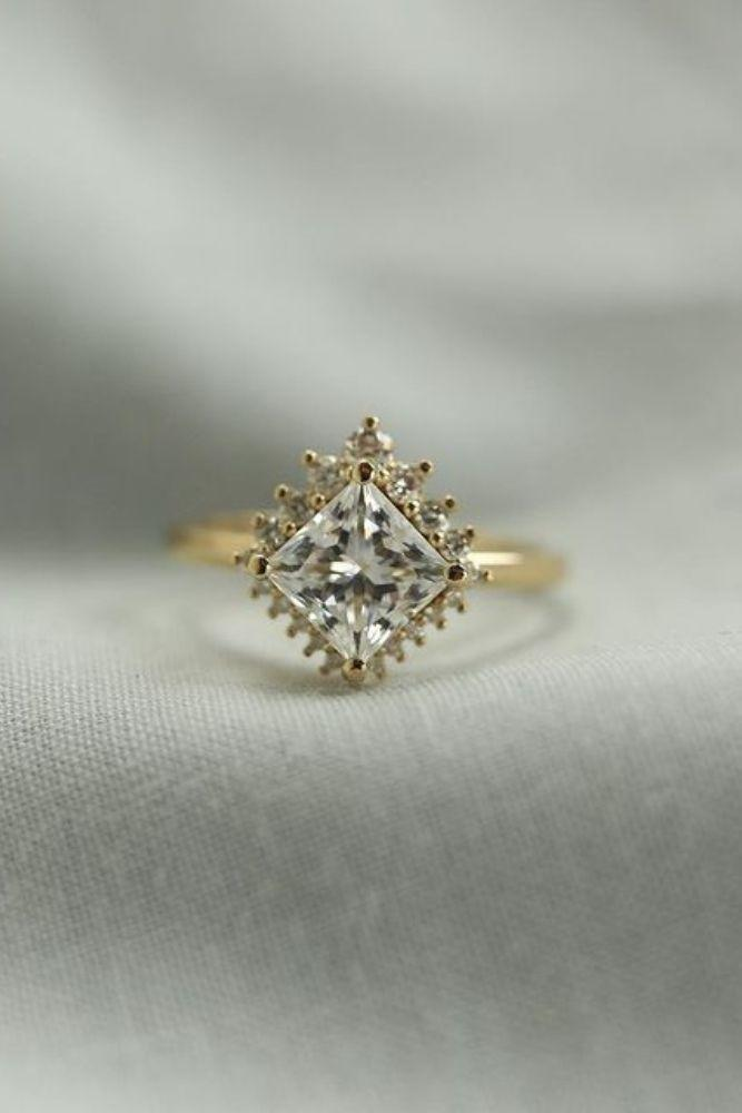 diamond engagement rings unique engagement rings in yellow gold2