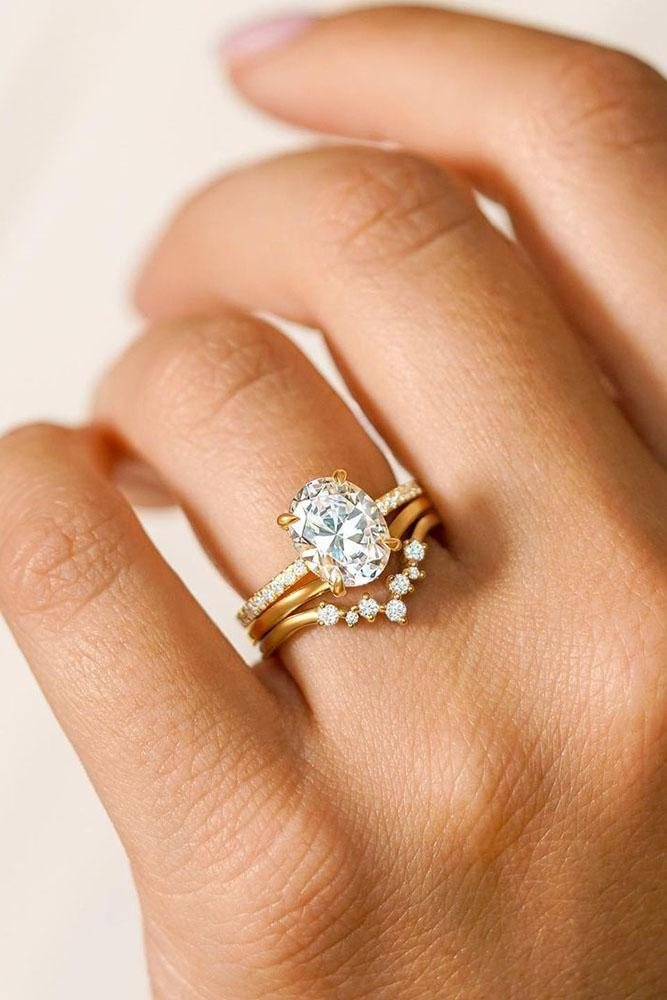 oval engagement rings rose gold engagement rings bridal sets