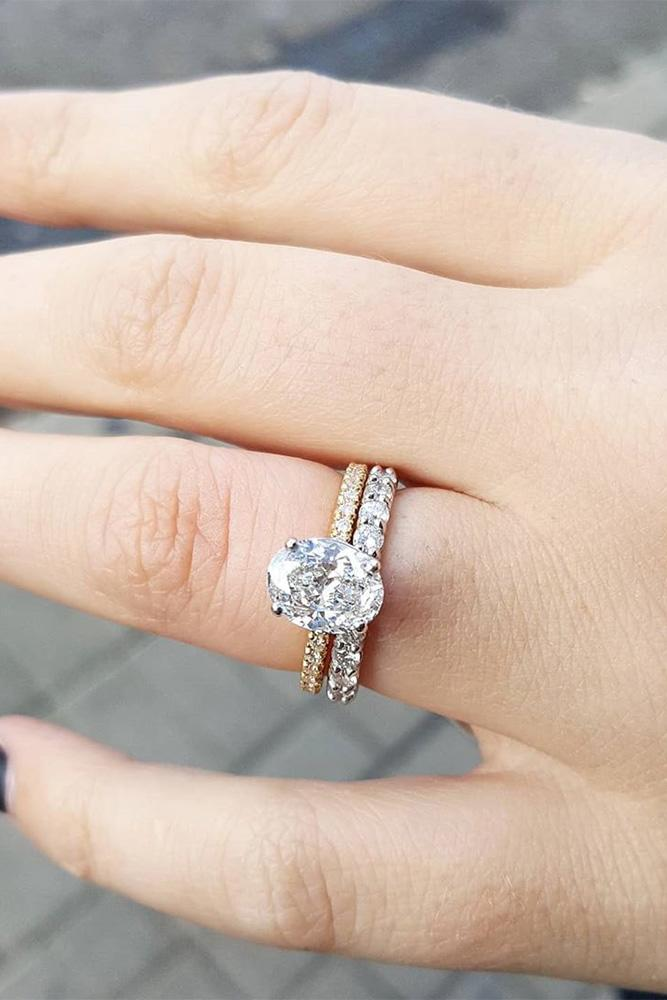 oval engagement rings simple solitaire ring set