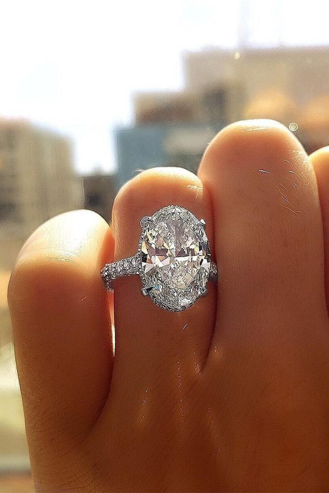 oval engagement rings simple solitaire ring