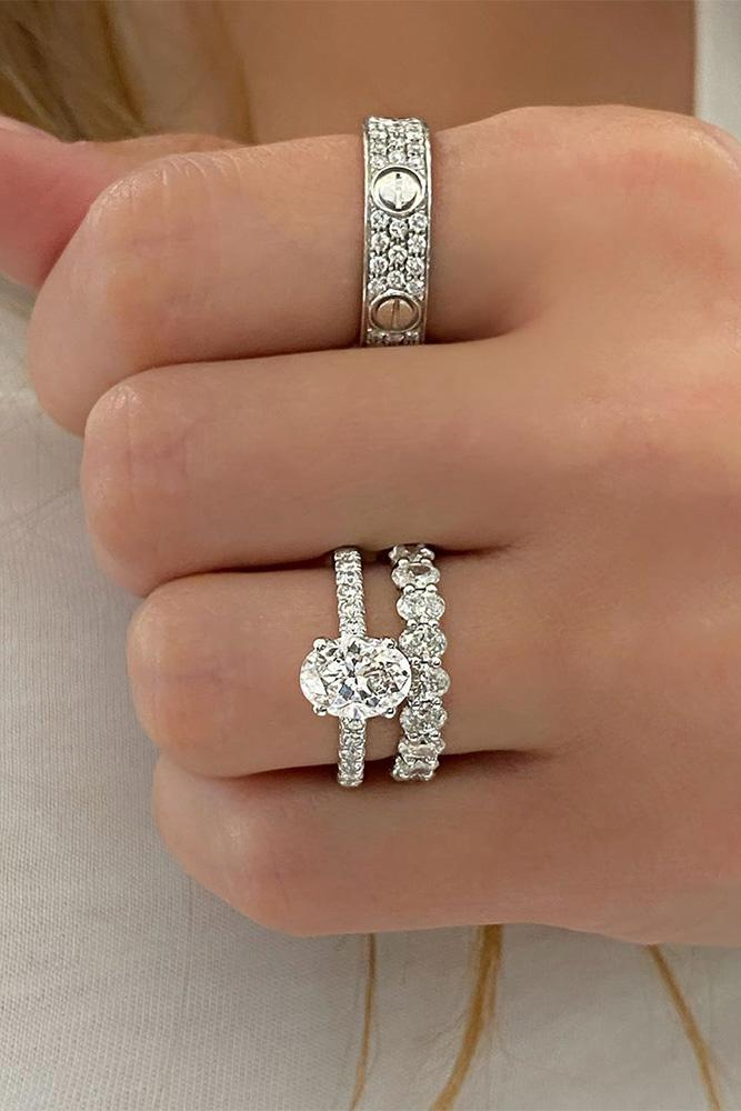 oval engagement rings solitaire rings wedding ring sets