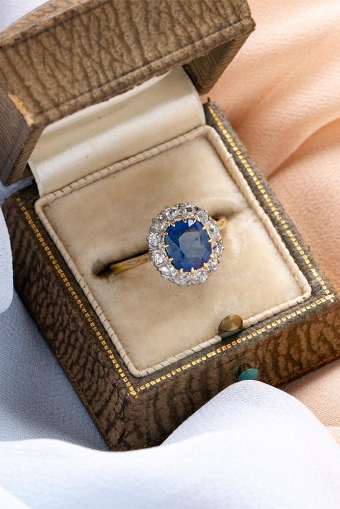 sapphire engagement rings halo engagement rings