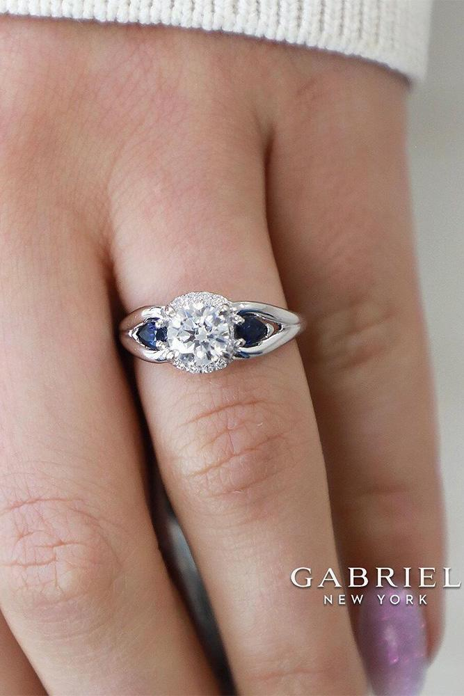 sapphire engagement rings white gold engagement rings