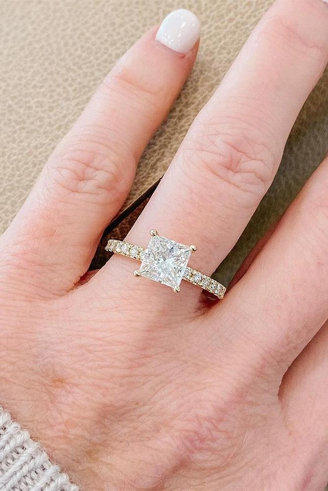 simple engagement rings princess cut engagement rings