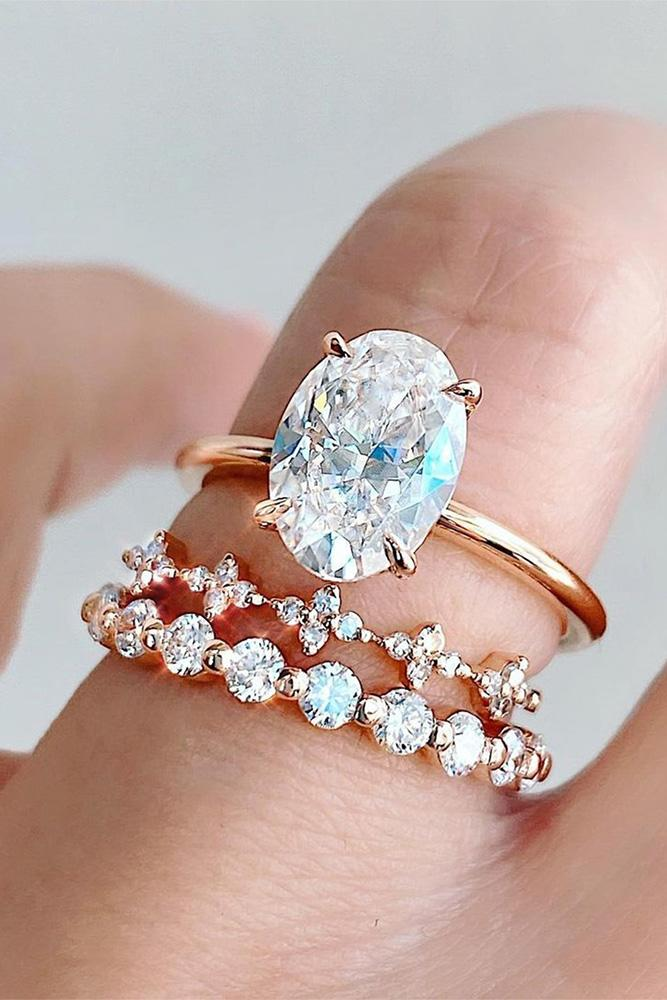 simple engagement rings rose gold engagement rings bridal sets
