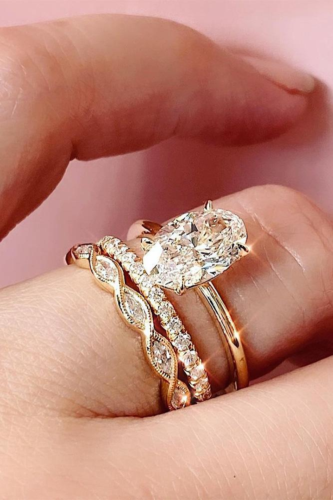 simple engagement rings rose gold engagement rings oval cut