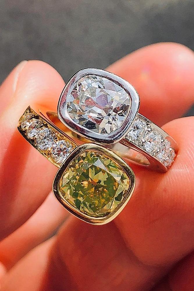 unique engagement rings yellow diamond