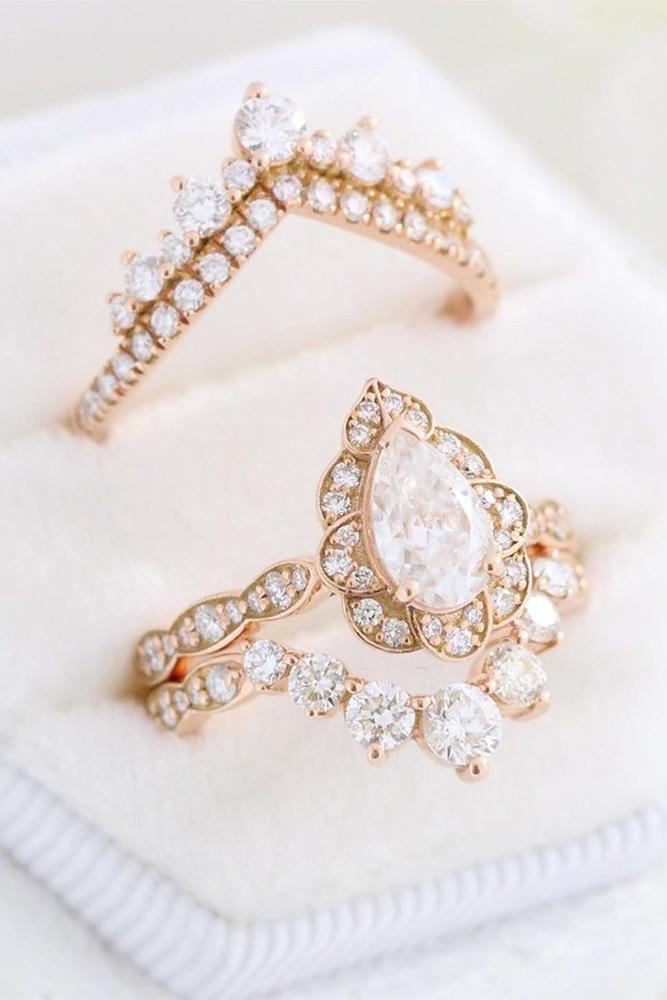 vintage engagement rings rose gold engagement rings