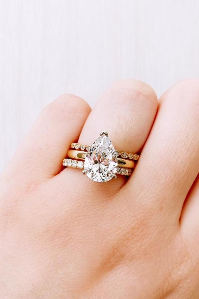 pear shaped engagement rings rose gold ring