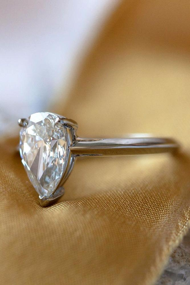 pear shaped engagement rings white gold ring