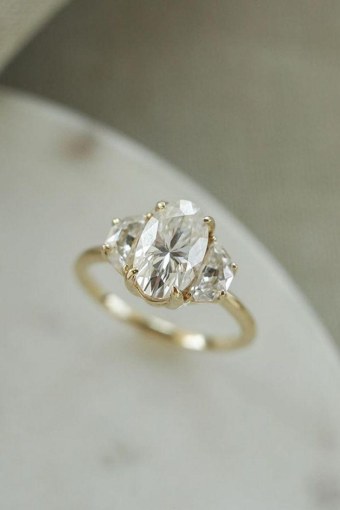 oval engagement rings three stone engagement rings