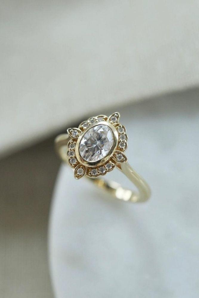 oval engagement rings vintage rings
