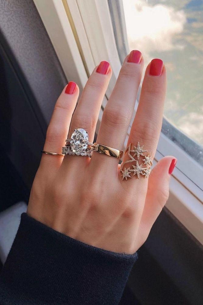 oval engagement ringswedding ring sets