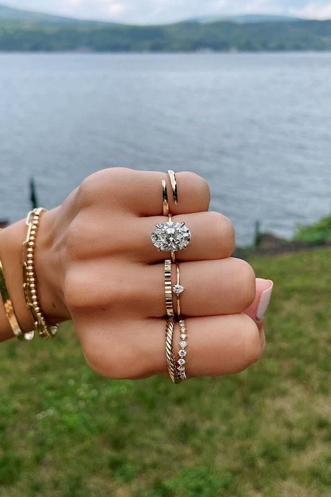 oval engagement ringswedding ring sets1