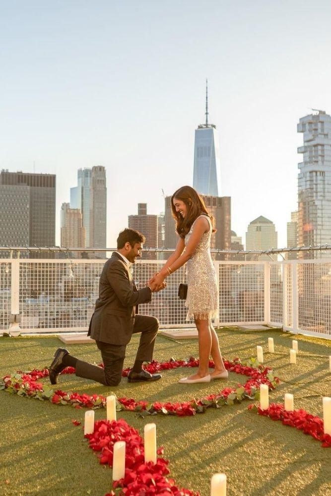 best proposal ideas with flowers and hearts1