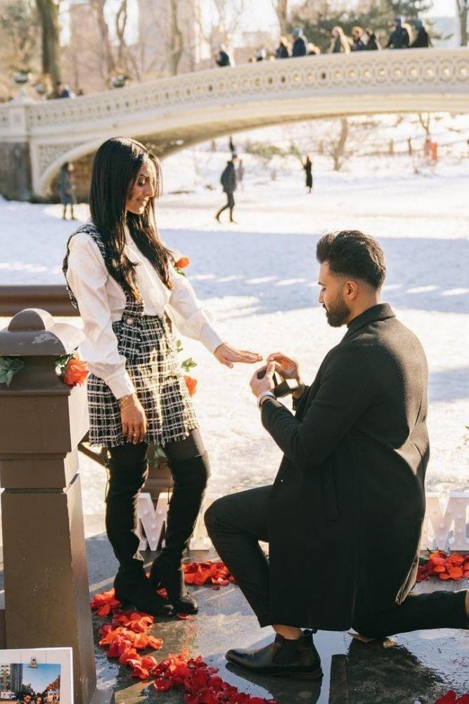 best proposal ideas with flowers and hearts2