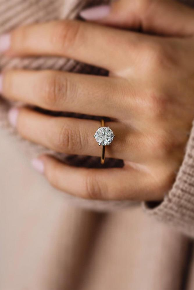 moissanite engagement rings round cut rings
