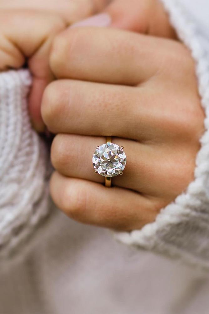 moissanite engagement rings round cut rings simple
