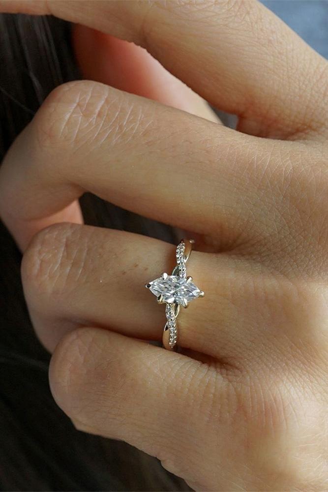 moissanite engagement rings solitaire rings