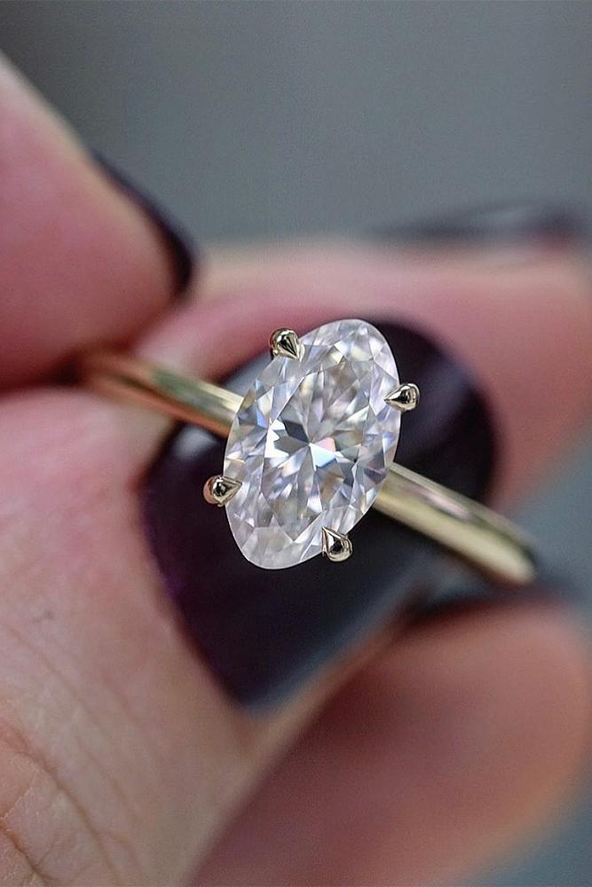 simple engagement rings oval cut ring bridal sets