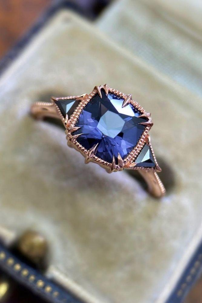 vintage engagement rings amazing rings in rose gold