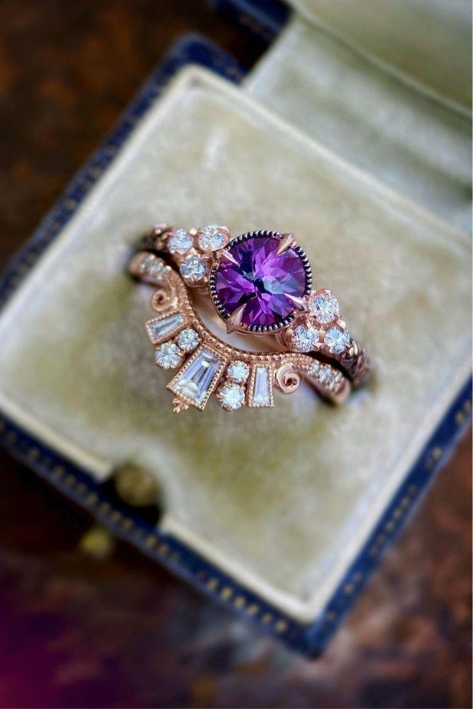 vintage engagement rings in rose gold