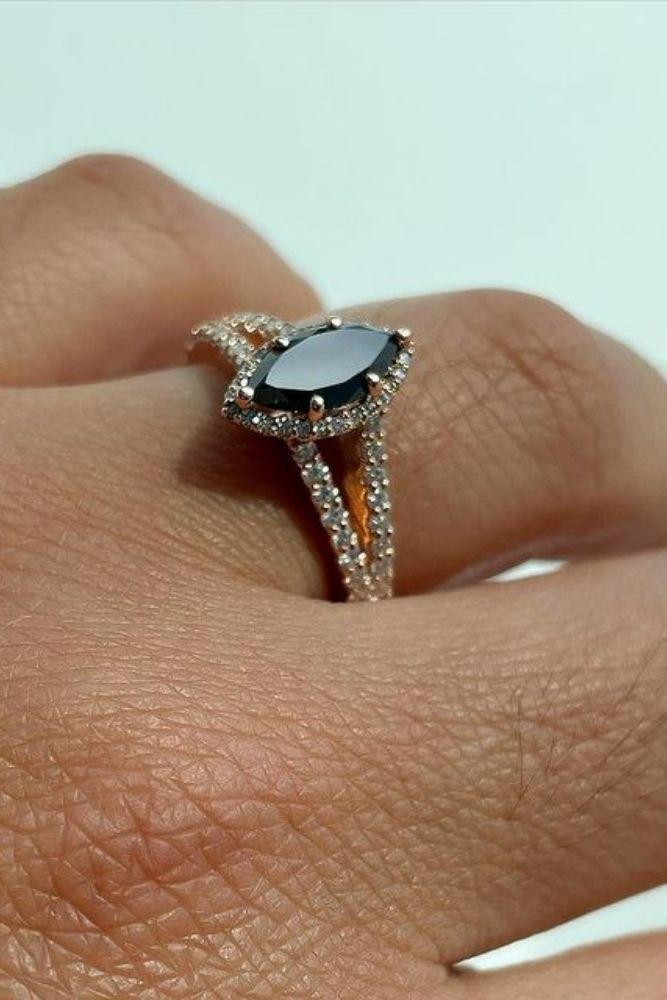 black diamond engagement rings gorgeous halo rings