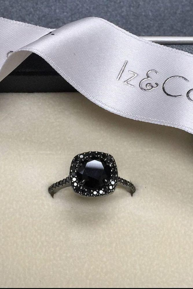 black diamond engagement rings halo beautiful rings