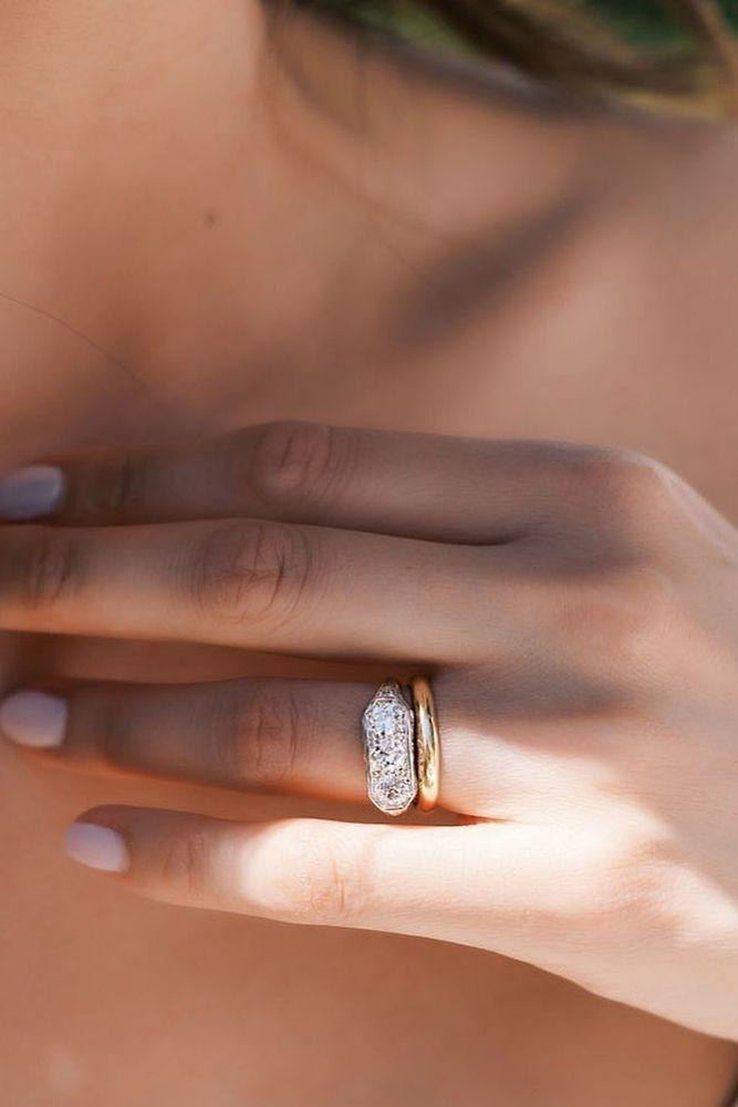 diamond wedding rings two tone wedding beautiful rings