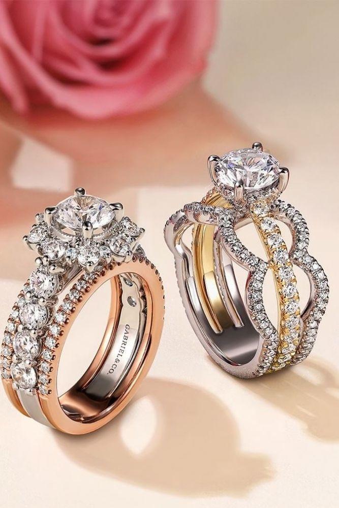diamond wedding rings two tone wedding rings