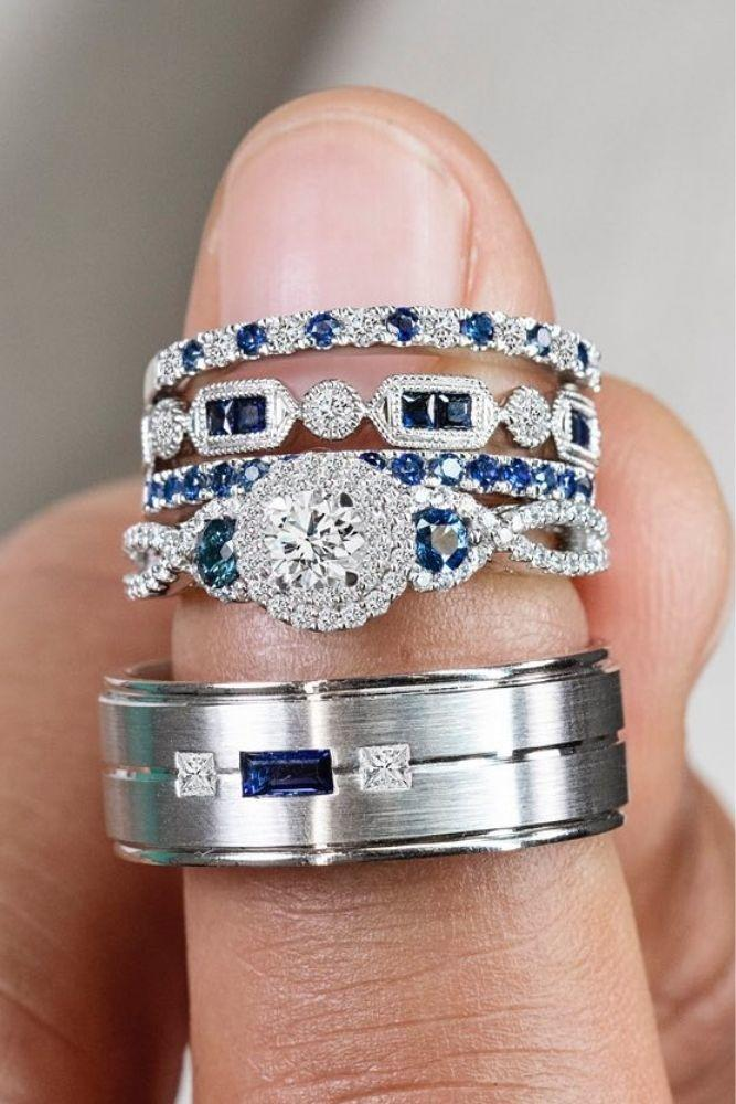 halo engagement rings with double halo