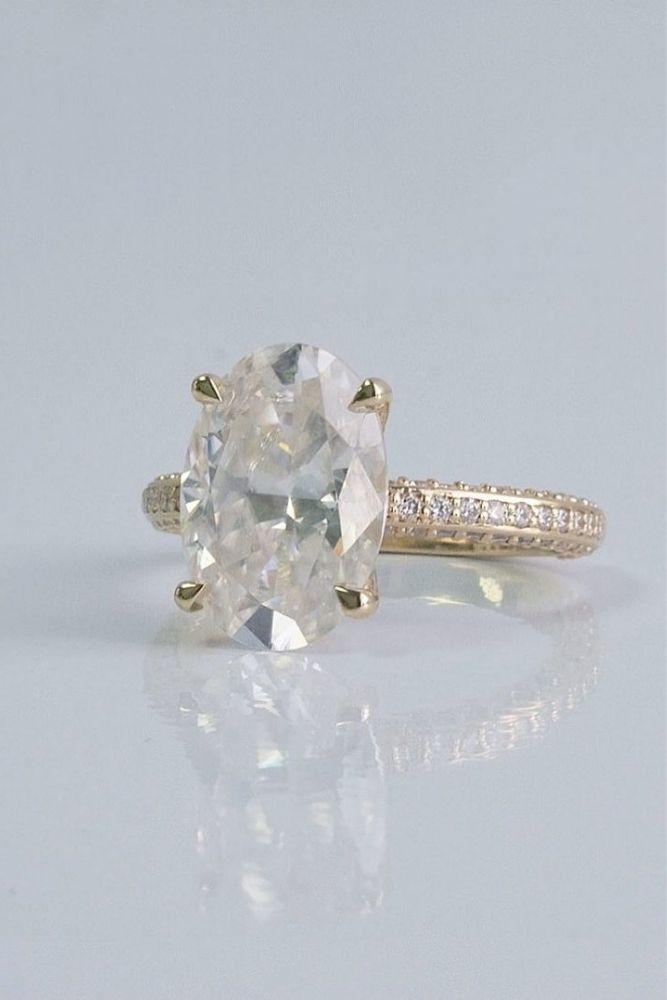 simple engagement rings amazing oval center stone rings