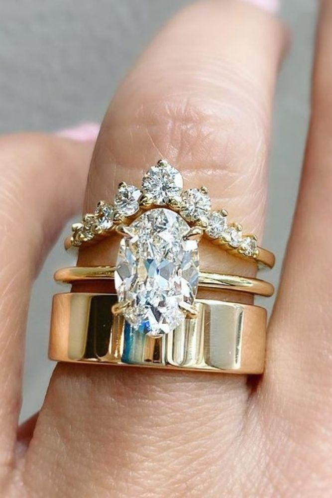simple engagement rings amazing oval center stone