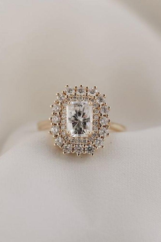 simple engagement rings emerald cut diamond rings1