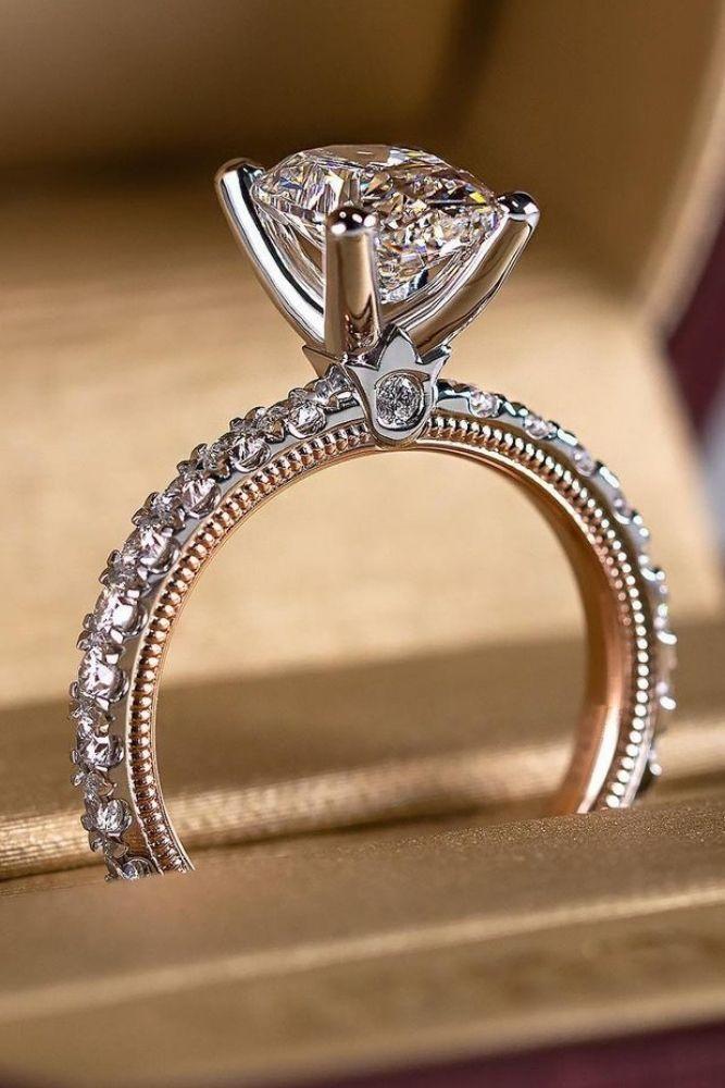 simple engagement rings radiant cut diamonds rings2