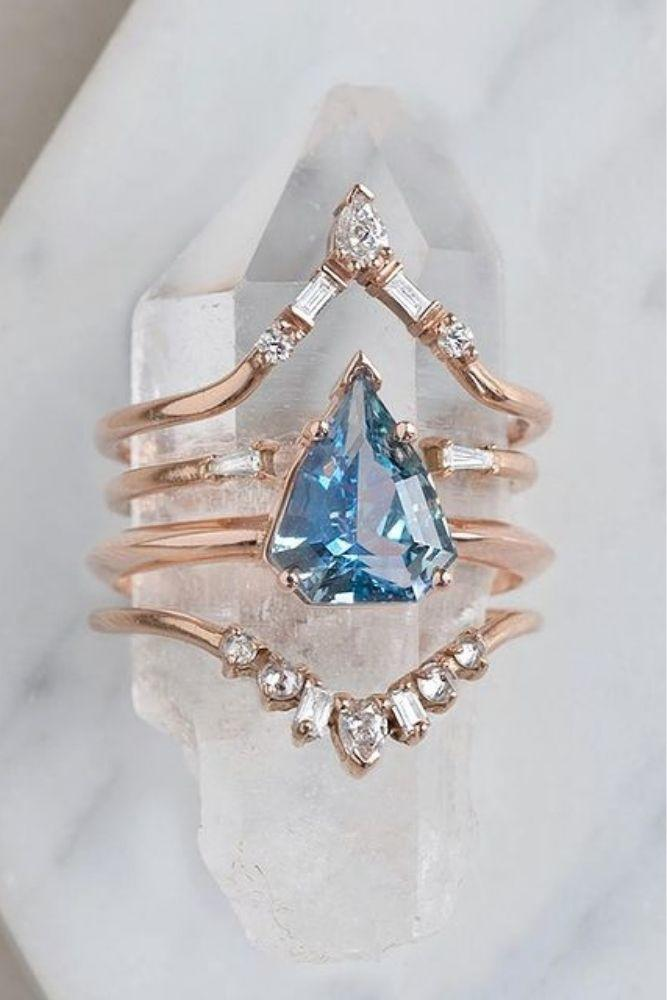 sapphire engagement rings wedding ring sets