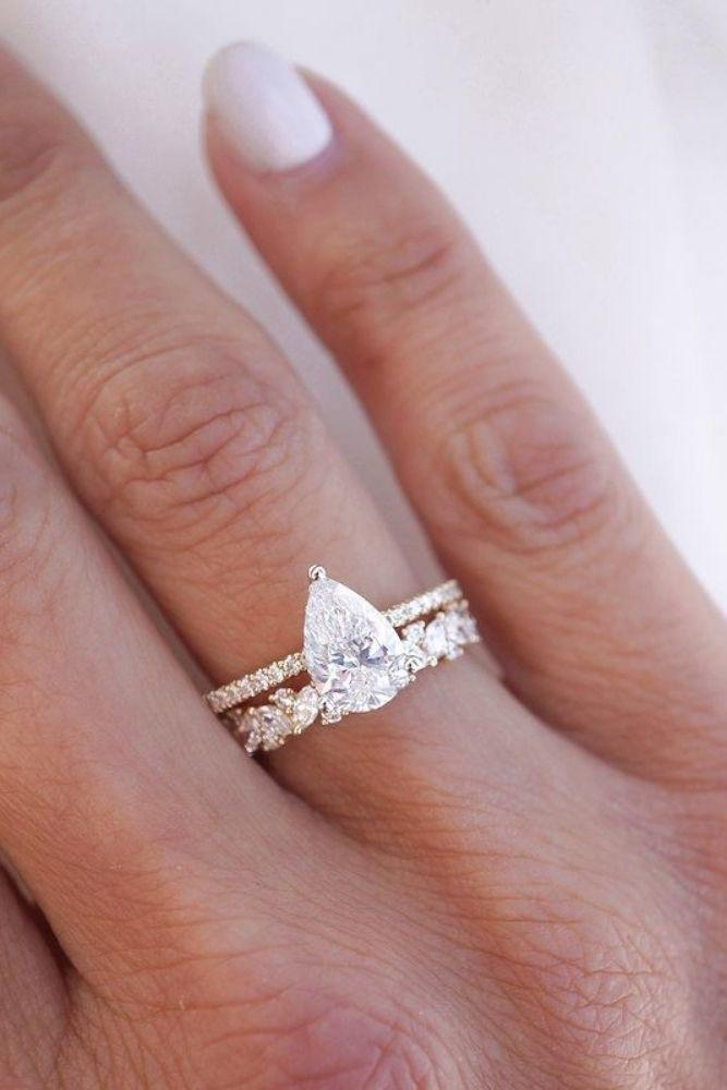solitaire engagement rings simple pear shaped marquise cut rings