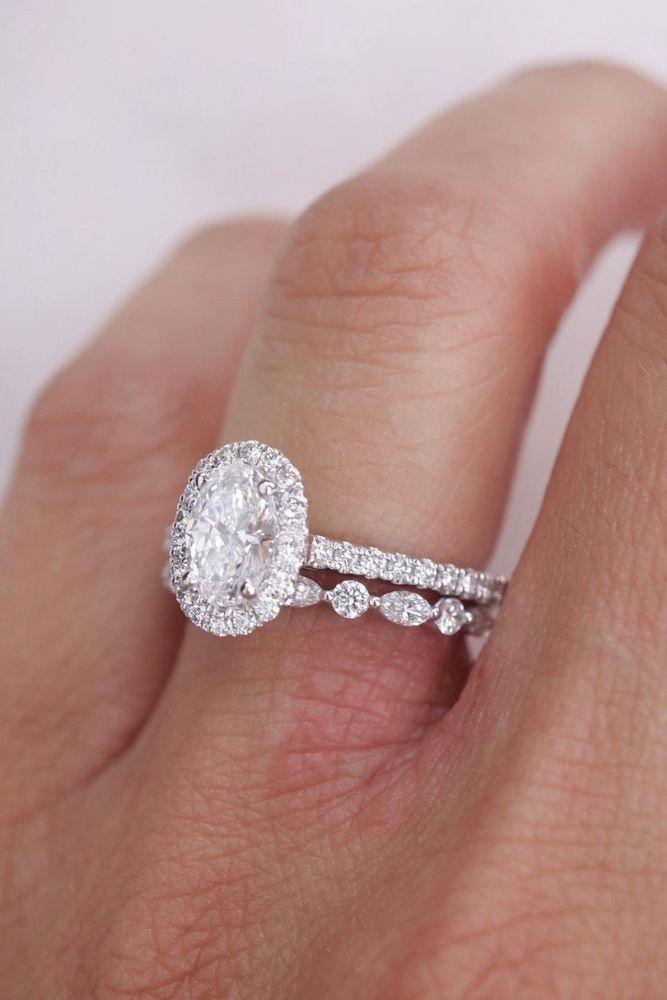 bridal sets amazing oval cut center stones