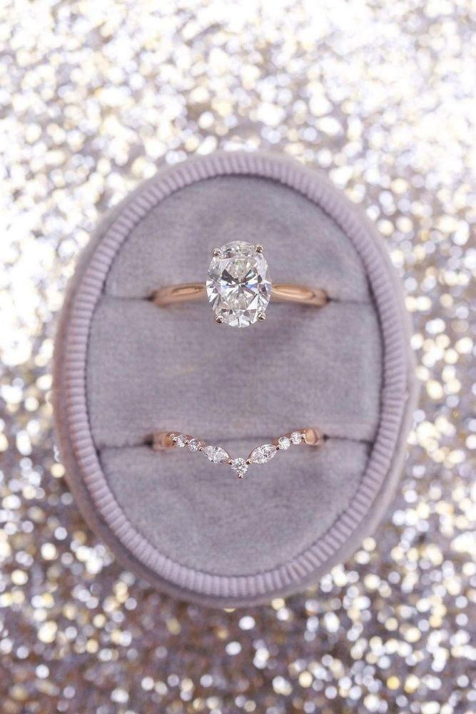 bridal sets oval cut center stones