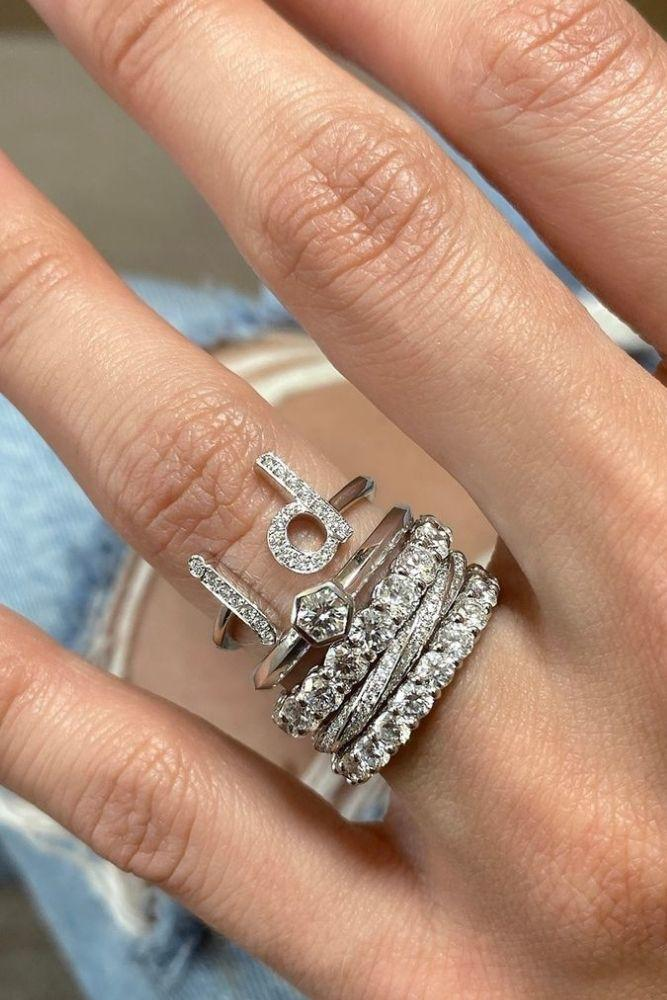 bridal sets white gold beautiful wedding bands unique rings