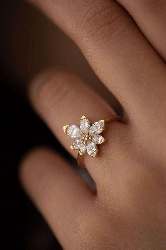 unique engagement rings unique engagement rings in rose gold