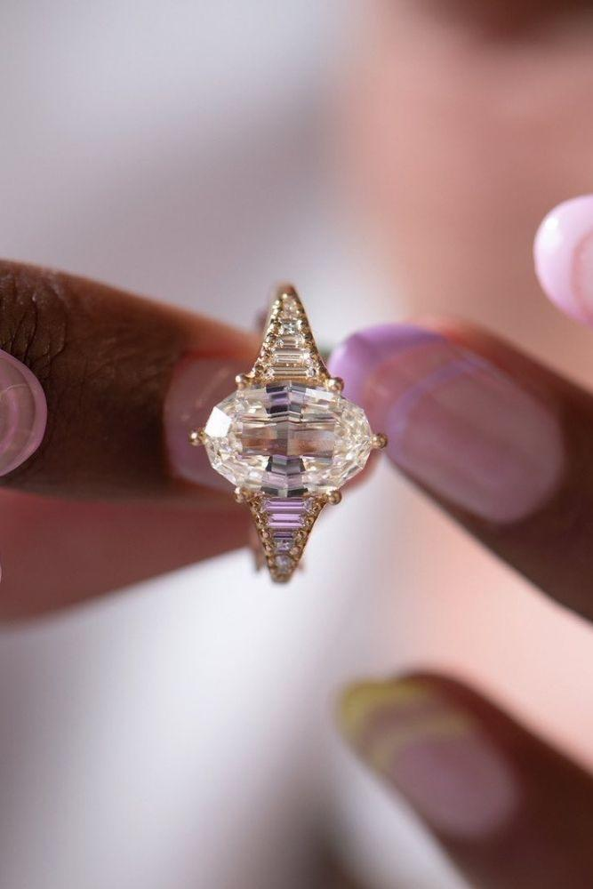 unique engagement rings unique engagement rings in rose gold2