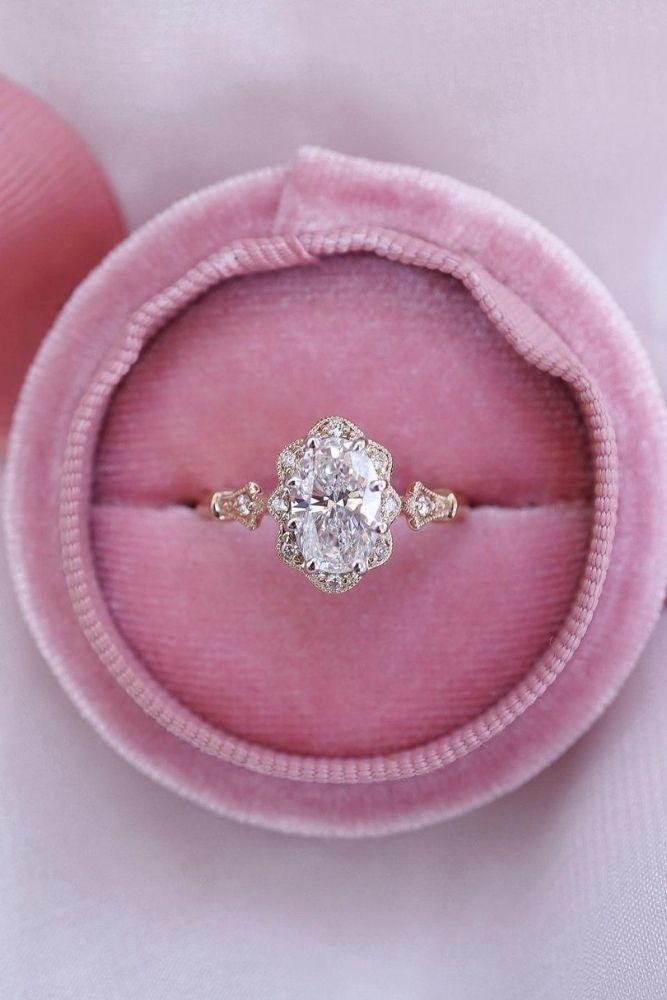 unique engagement rings unique engagement rings in rose gold1