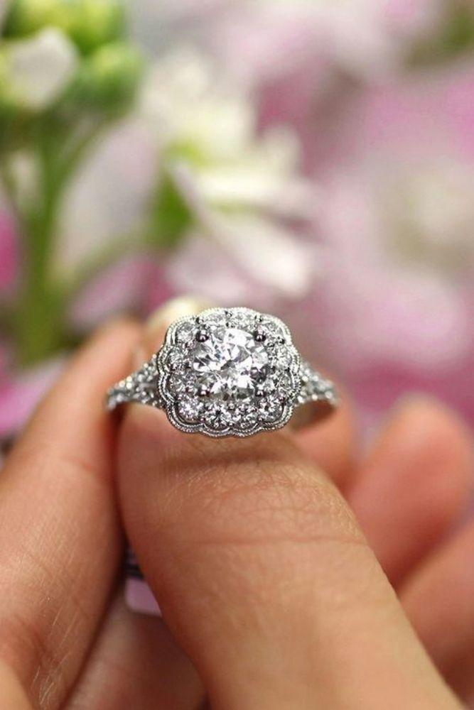 unique engagement rings unique white gold engagement rings2