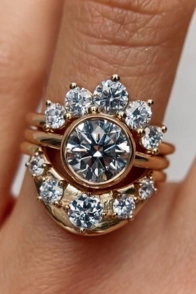 bridal sets amazing unique sets with round cut diamonds