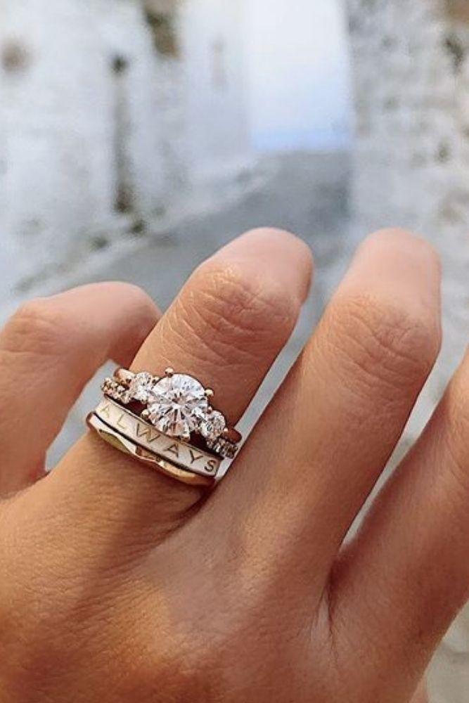 bridal sets unique sets with round cut diamonds