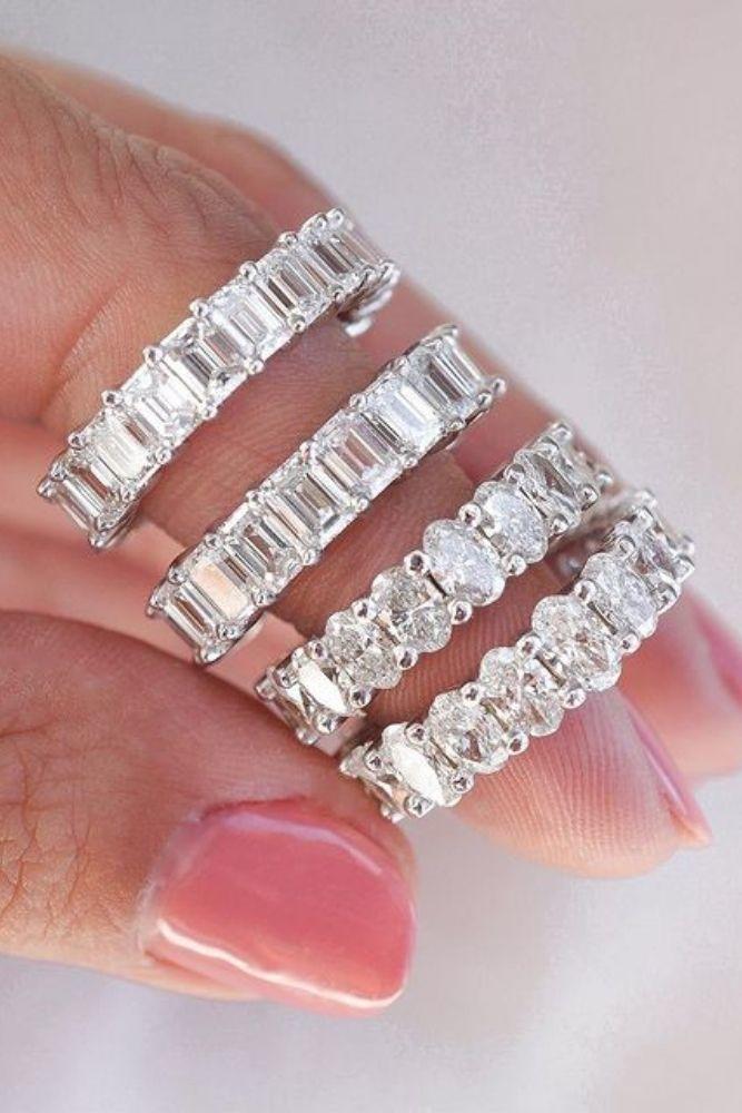 bridal sets white gold wedding bands2