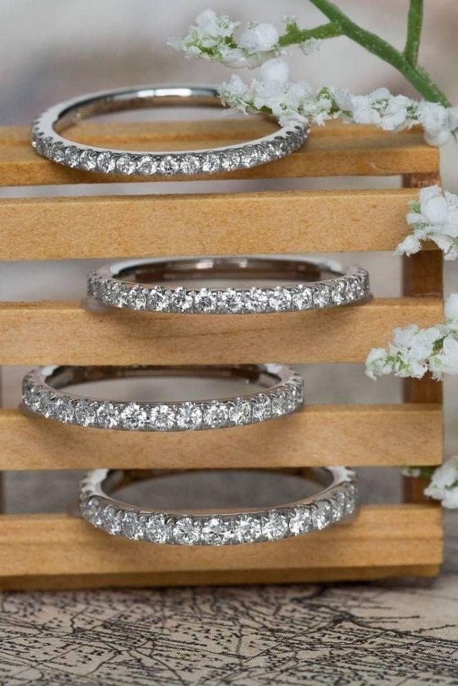 bridal sets white gold wedding bands1