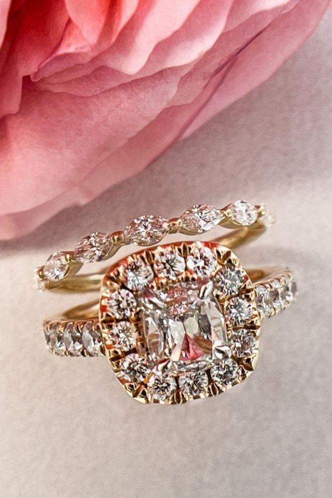 diamond wedding rings rose gold diamond sets